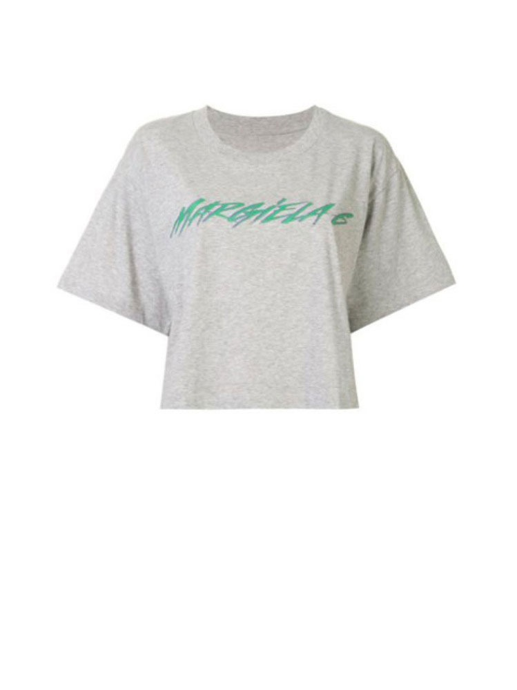 CROPPED LOGO T-SHIRT - 아데쿠베