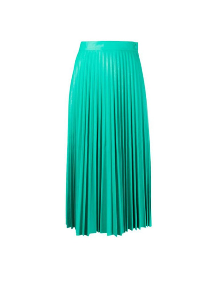 PLEATED MIDI SKIRT - 아데쿠베