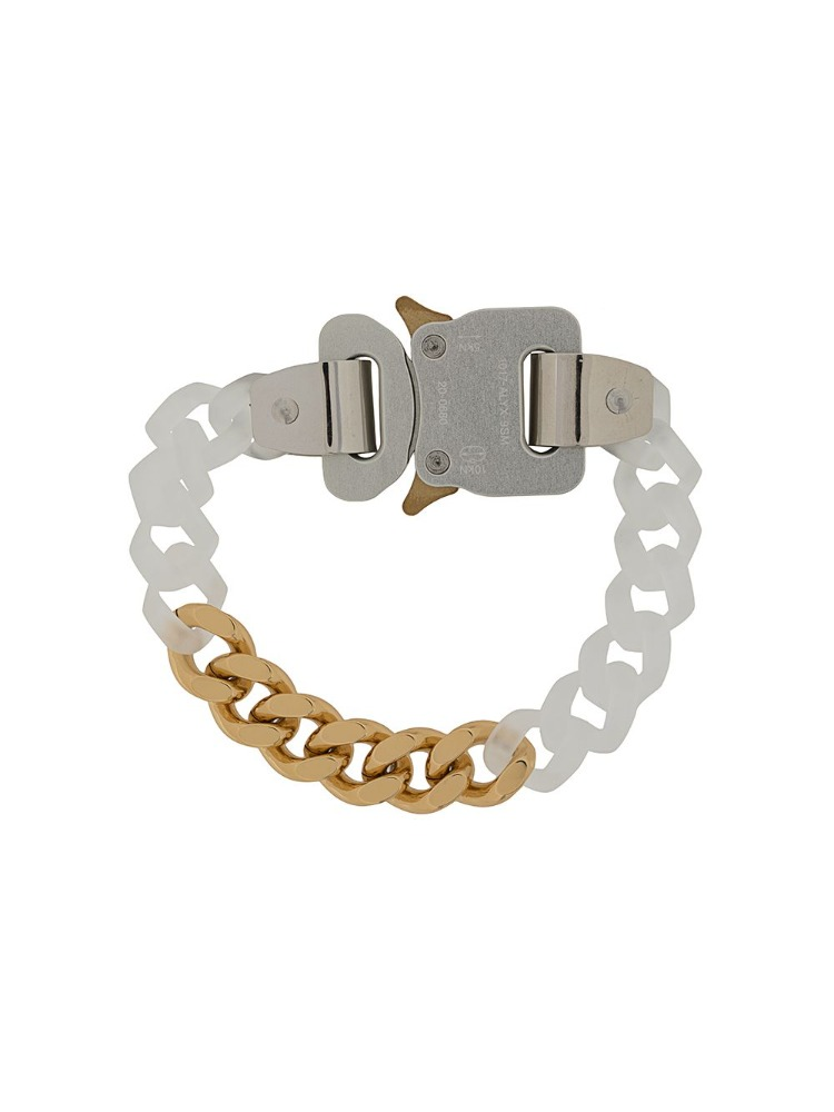 TRANSPARENT CHAIN AND METAL BRACELET - 아데쿠베
