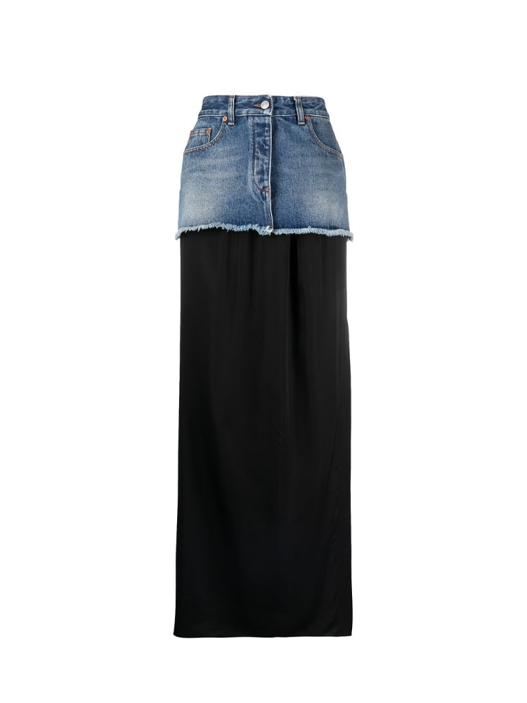 CHOP-OFF DENIM SKIRT WITH DETACHABLE LINING - 아데쿠베