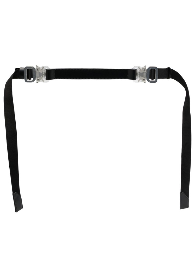 DOUBLE BUCKLE MIXED NYLON  & METAL MEDIUM ROLLERCOASTER BELT - 아데쿠베