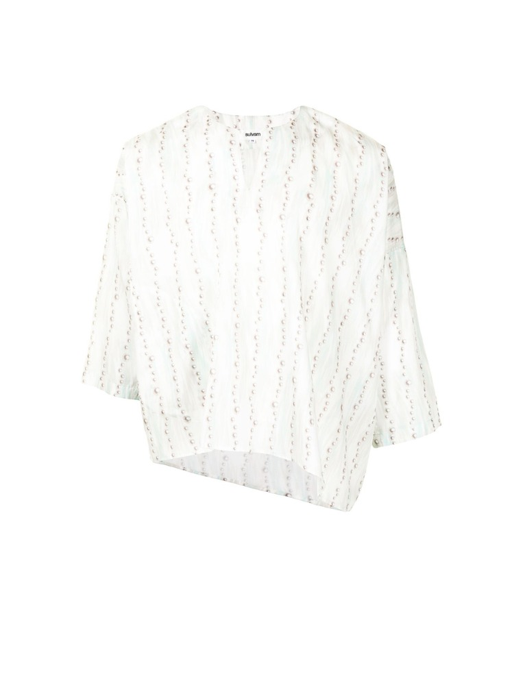 ASYMMETRY PULL OVER SHIRT - 아데쿠베