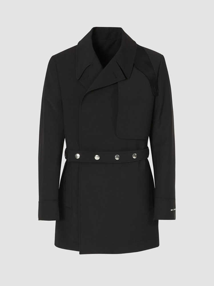 DOUBLE BREASTED TRENCH COAT BLAZER - 아데쿠베