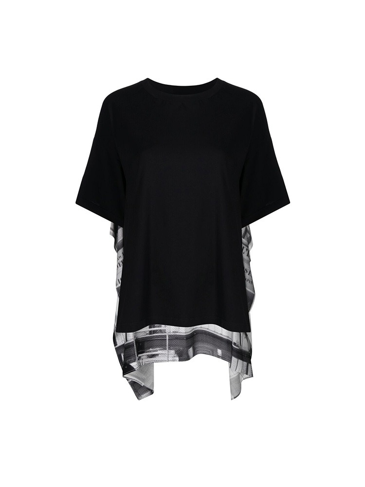 OFFICE PRINT PANEL T-SHIRT - 아데쿠베