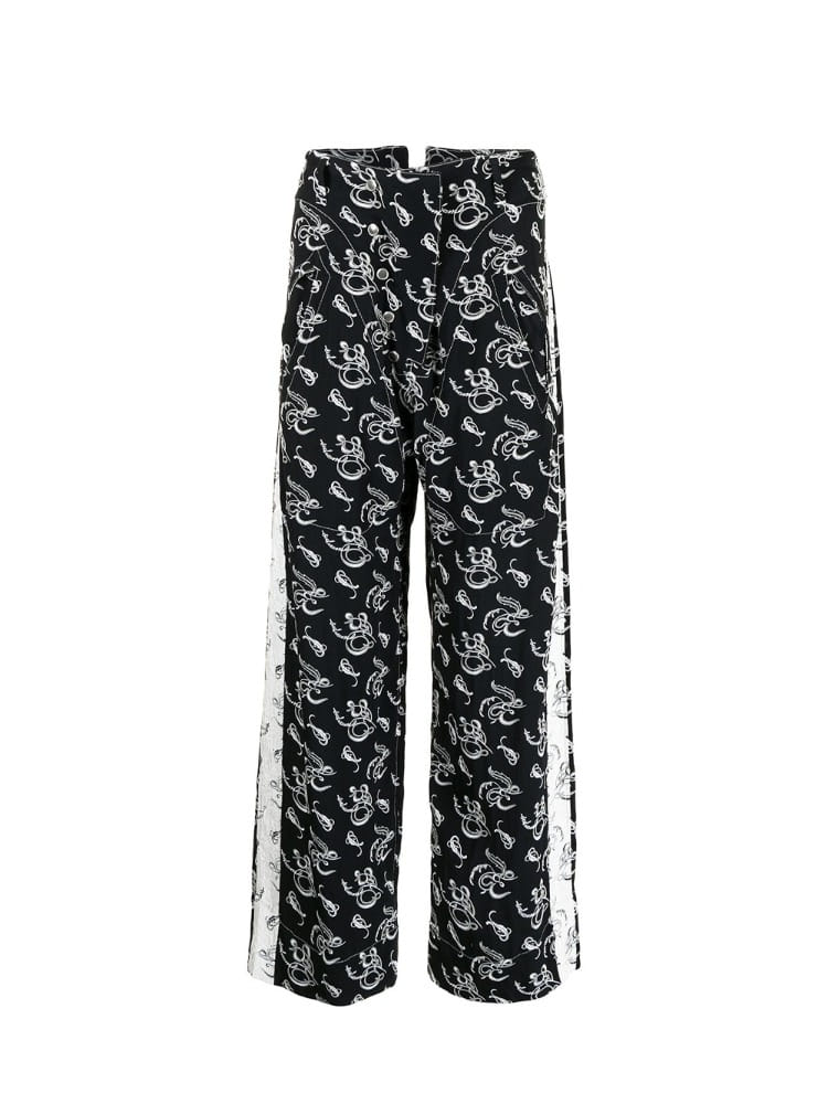 REVERSIBLE SIDE CHAPTER PANTS - 아데쿠베